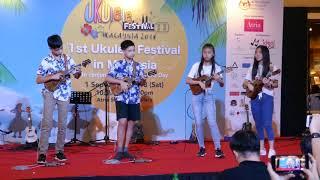 1st Malaysia Ukulele Festival - Body Surfing by Albert, RayRay, Shenny Hau & LynXuan