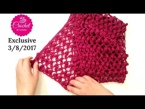 How to Crochet Scarf Cowl /Stitch #1 || ⛄Easy for all Seasons l☕ The Crochet Shop