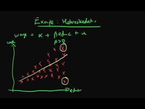 Heteroskedastic errors - example 1