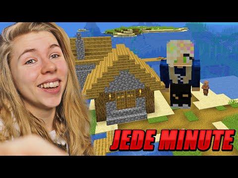 Minecraft, aber JEDE MINUTE WACHSEN WIR! LIVESTREAM