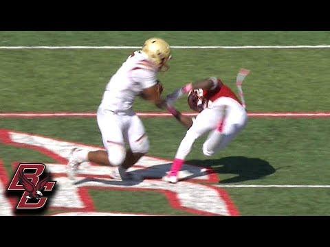 Boston College RB AJ Dillon Sheds Defender For 75-Yard TD