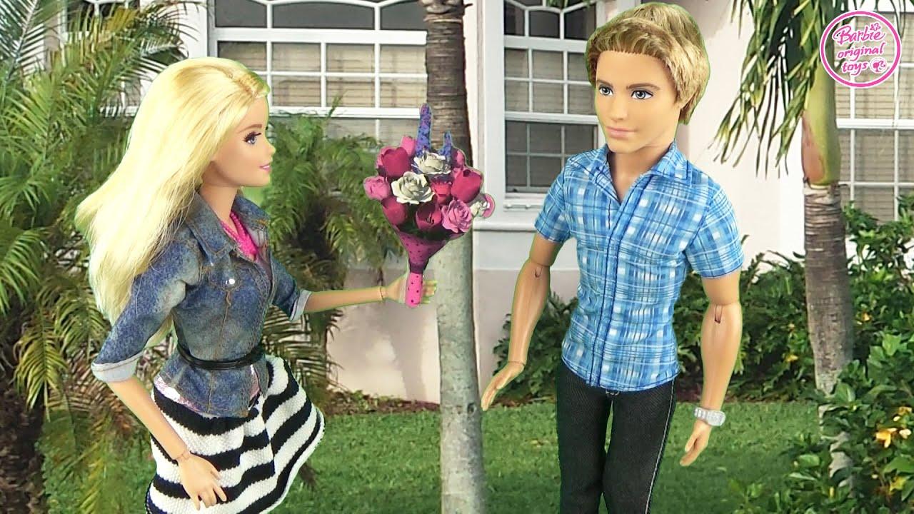 Мультфильм с куклами Барби. Подарок от Кена Дом мечты. Видео для детей 161