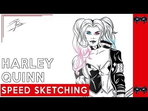 Speed Inking: Harley quinn