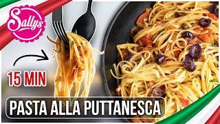 Nudel Gericht / Pasta alla Puttanesca / schnelles Mittagessen / Sallys Welt #WirBleibenZuhause