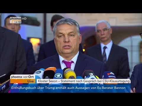 Statements  Orban, Dobrindt Seehofer nach Gespräch bei der  CSU-Landesgruppenklausur am 05.01.18