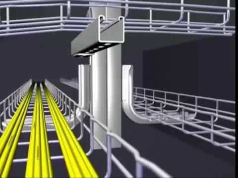 Лестничный кабельный лоток КРЕПЕЖ и технологии