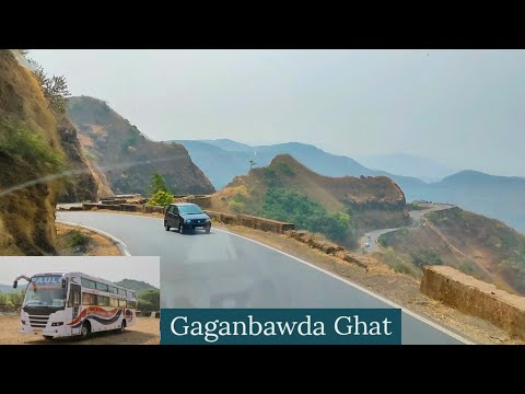 GAGANBAWDA GHAT | BUS CABIN RIDE | PAULO TRAVELS AC SLEEPER BUS | NH 66