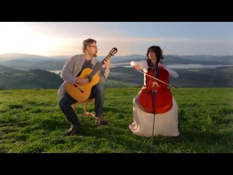 Dusan Bogdanovic : Quatre Pieces Intimes III&IV - CELLO GUITAR DUET - DUO VITARE  - Music Video