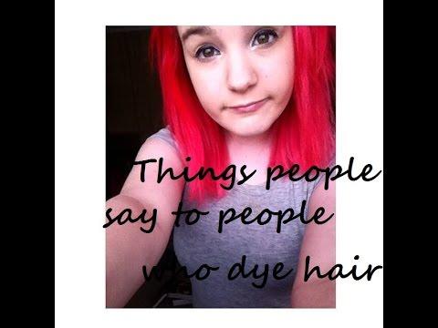 people dye