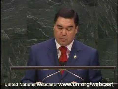 Berdymukhammedov's speech at UN, part1