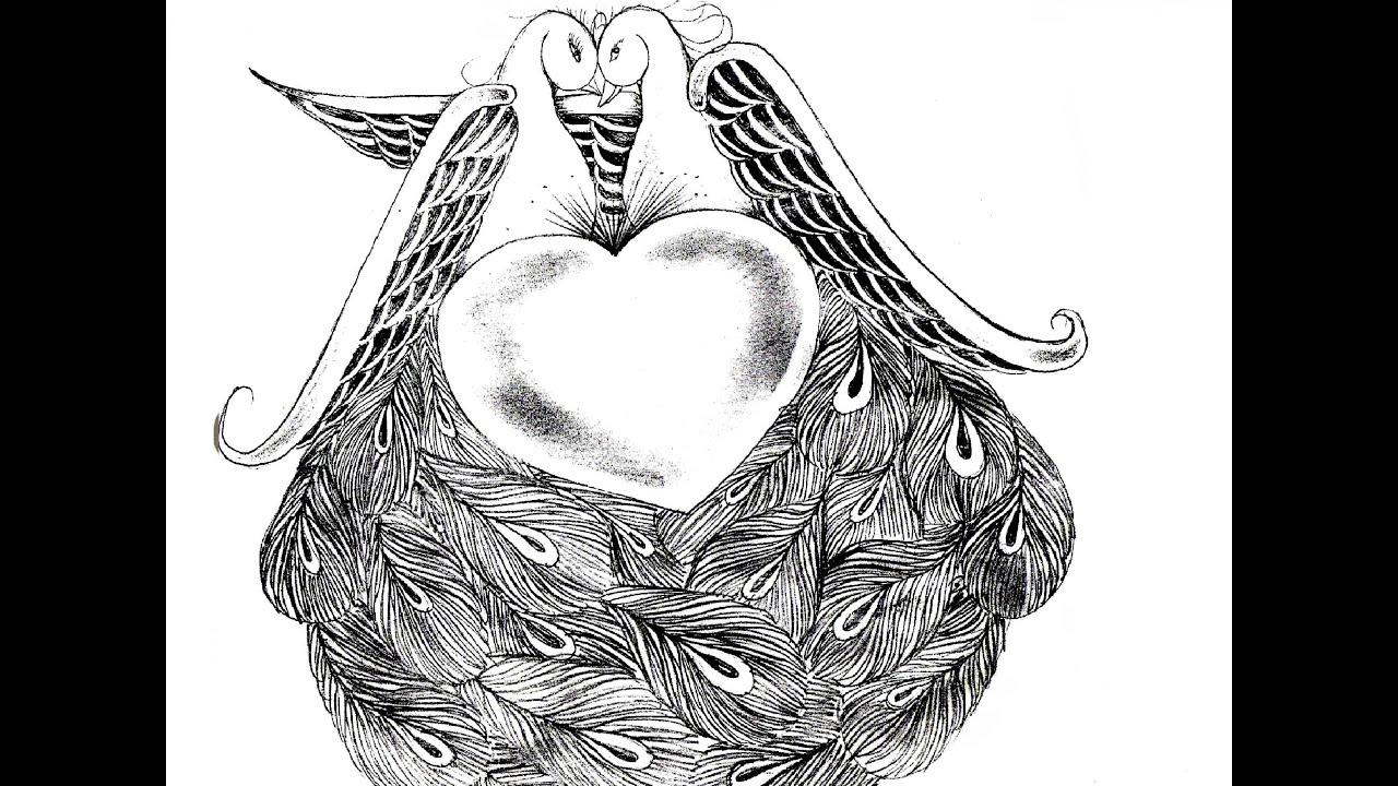 Uncategorized Love Birds Drawing how to draw two love birds by wizard youtube wizard