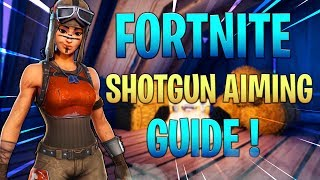 FORTNITE SHOTGUN TIPS AND TRICKS ! HOW TO HIT MORE SHOTGUN SHOTS IN FORTNITE ! (Fortnite console)