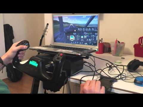 PMDG 737 landing (saitek yoke test)