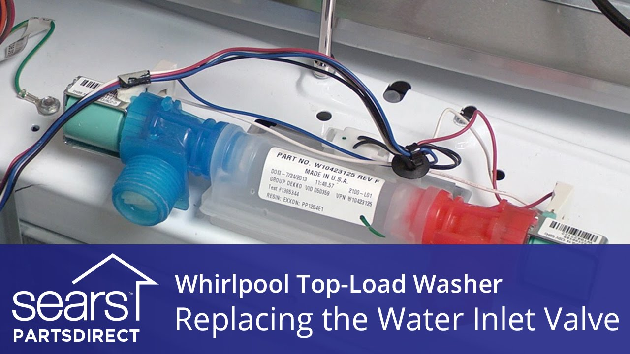 how to replace the water inlet valve on a whirlpool vertical modular washer vmw  [ 1280 x 720 Pixel ]