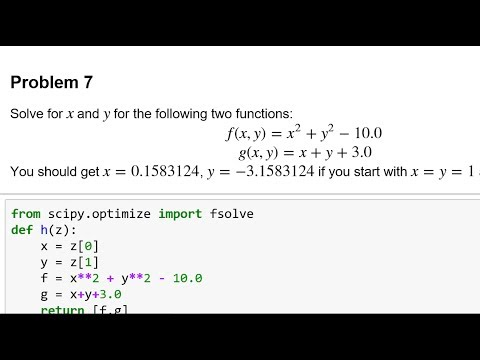 Python Symbolic and Numeric Solutions
