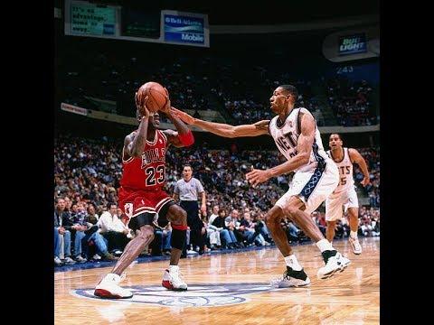 Michael Jordan 1997-12-20: 24 points v New Jersey Nets - Unbelievable reverse layups!