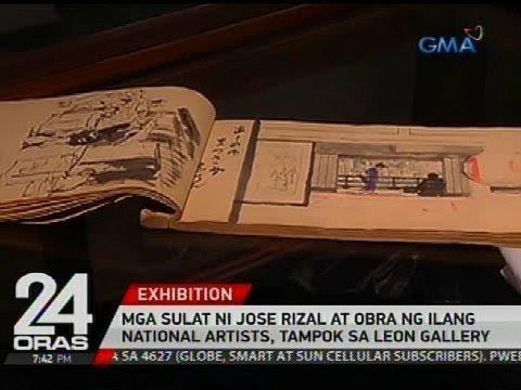 Mga sulat ni Jose Rizal at obra ng ilang national artists, tampok sa Leon Gallery
