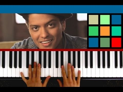 """How To Play """"The Lazy Song"""" Piano Tutorial / Sheet Music (Bruno Mars)"""