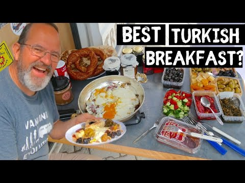 How to make AMAZING Turkish Breakfast Van Life Style   Making Turkish Coffee