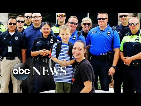 Fallen Police Officer's Son Gets a First Day of School Surprise