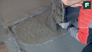 Устройство напольной стяжки методом «мокрый по мокрому»