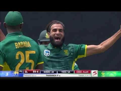 ACTION: Imran Tahir takes 3-26 vs Sri Lanka