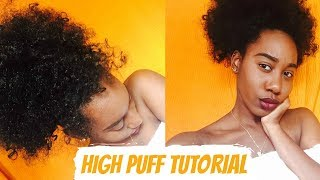 HIGH PUFF TUTORIAL AVEC DES CROCHETS BRAIDS [ Protective style ]