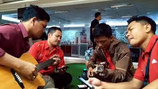 Naff Terendap laraku acoustic Feat Bambang Tamvan