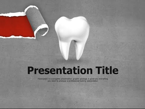 dental caries animated ppt template - youtube, Modern powerpoint