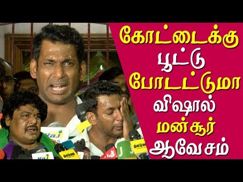 actor vishal and mansoor ali khan were released mansoor ali khan challenge eps tamil news live