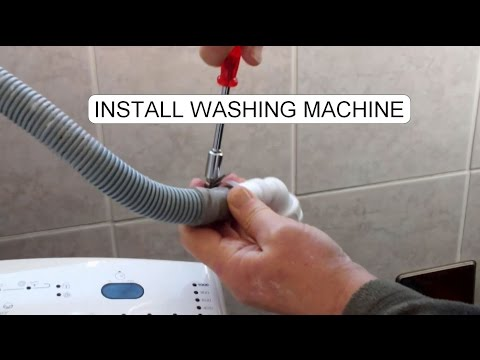 how to install electrolux washing machine