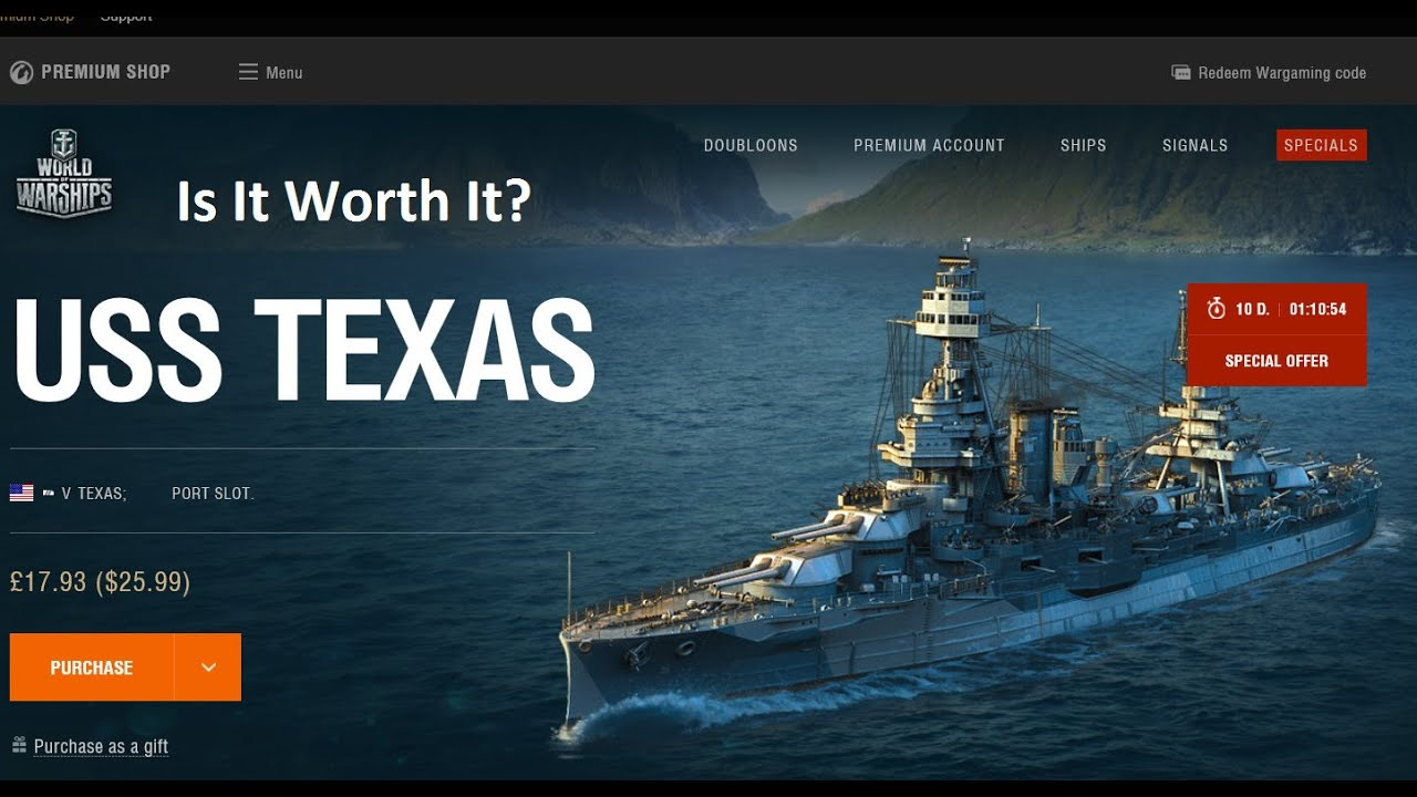 World Of Warships PReview USS Texas Is It Worth It?