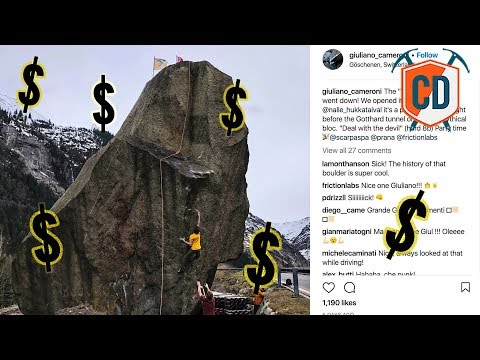 Nalle Hukkataival Climbs World's Most Expensive Boulder | Climbing Daily Ep.1156