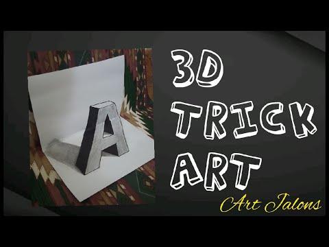 3D Trick Art    Letter A    'A' 3 dimensions