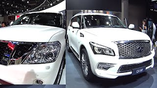 TOP biggest Nissan & Infiniti  SUVs 2016, 2017 model Infiniti QX80 VS Nissan Patrol