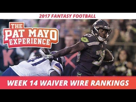 2017 Fantasy Football - Week 14 Waiver Wire Rankings, Injuries, Recap + MORE