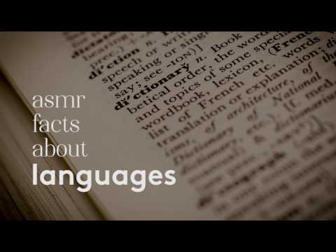 [ASMR] Ear to Ear Whispered Facts about Language