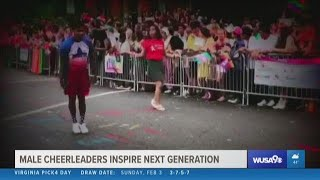 First male cheerleaders dance in the Super Bowl, inspire next generation