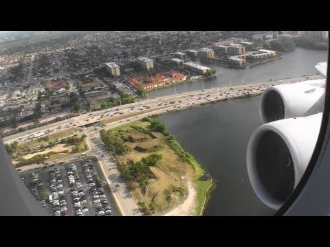 Absolutely Monstrous HD Airbus A380-800 Takeoff From Miami On Lufthansa!!!