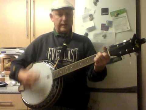 E major blues  6 string banjo,