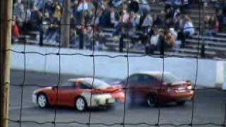 05 legacy vs 91 3000gt vr4 3rd round seekonk speedway