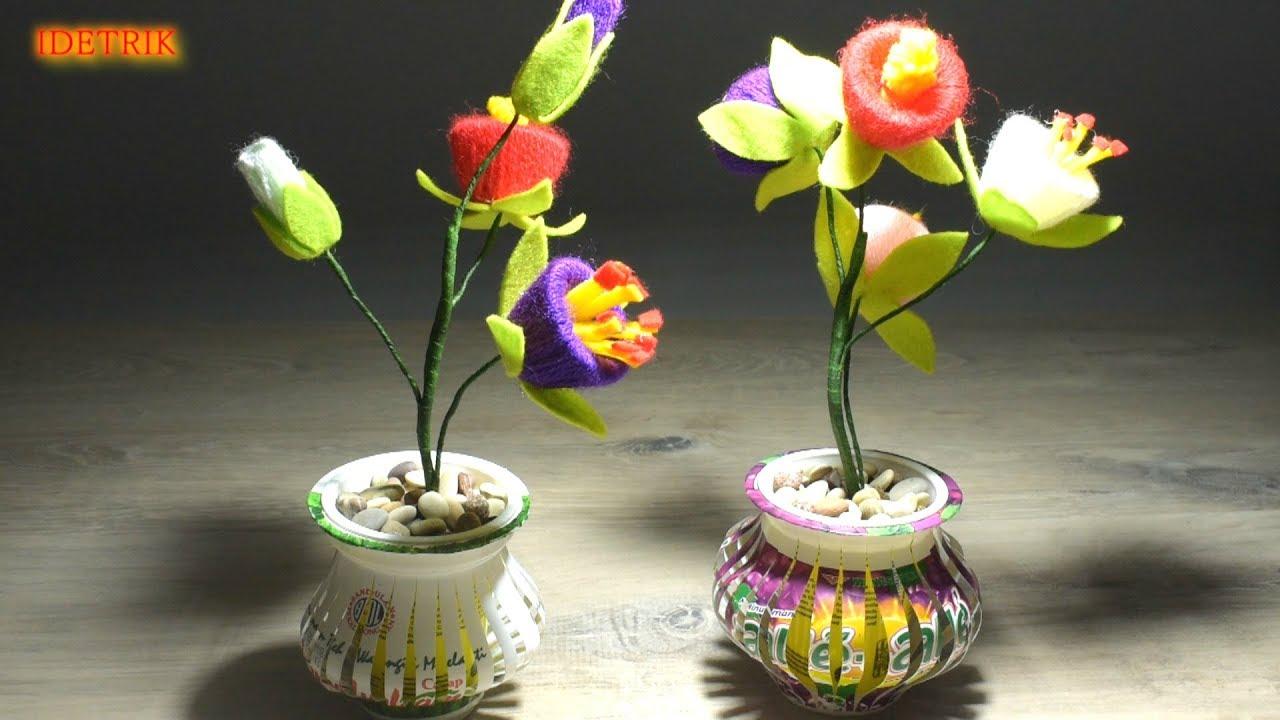 Cara Membuat Pot Bunga Yang Simpel Trik Idetrik Youtube