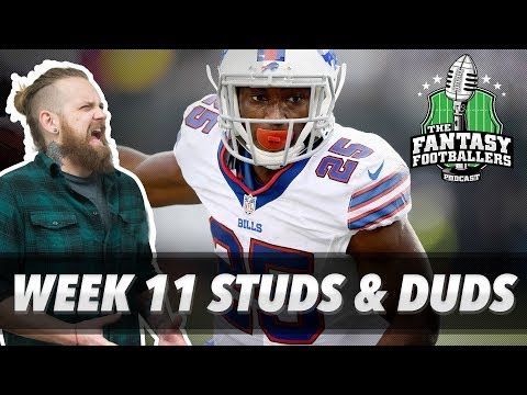 Fantasy Football 2017 - Week 11 Studs & Duds, Rising Stars, Kenny Lives - Ep. #483