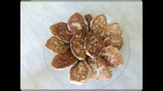 Оладьи из куриной грудки,быстро и вкусно!/Pancakes with chicken breast, quick and tasty