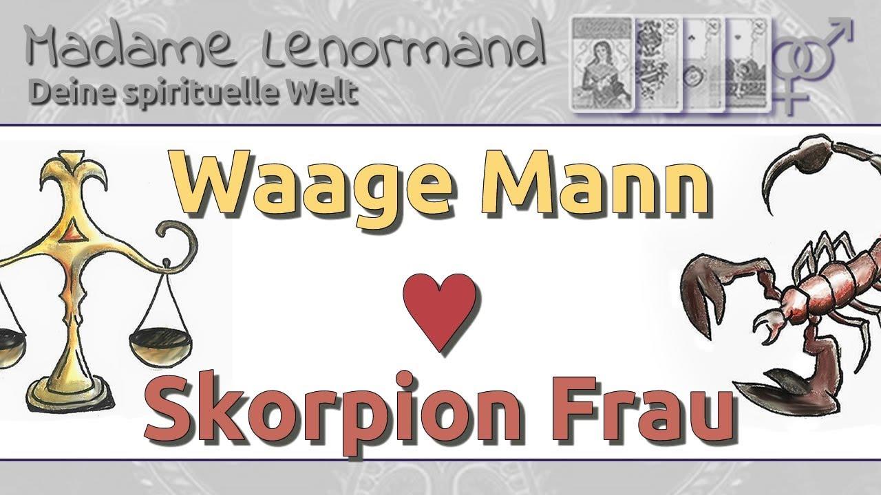 Waage Frau Skorpion Mann