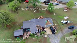 5 3 18 Norman, OK Tornado Damage From Drone Roof Ripped Off Shed Destroyed Aerial 4k