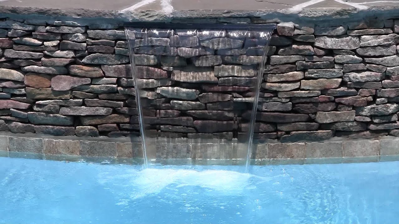 spa spillway waterfall from backyard oasis pools raleigh nc