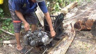 Biến xe gắn máy phế liệu thành máy kéo có sức mạnh khủng/motorcycle