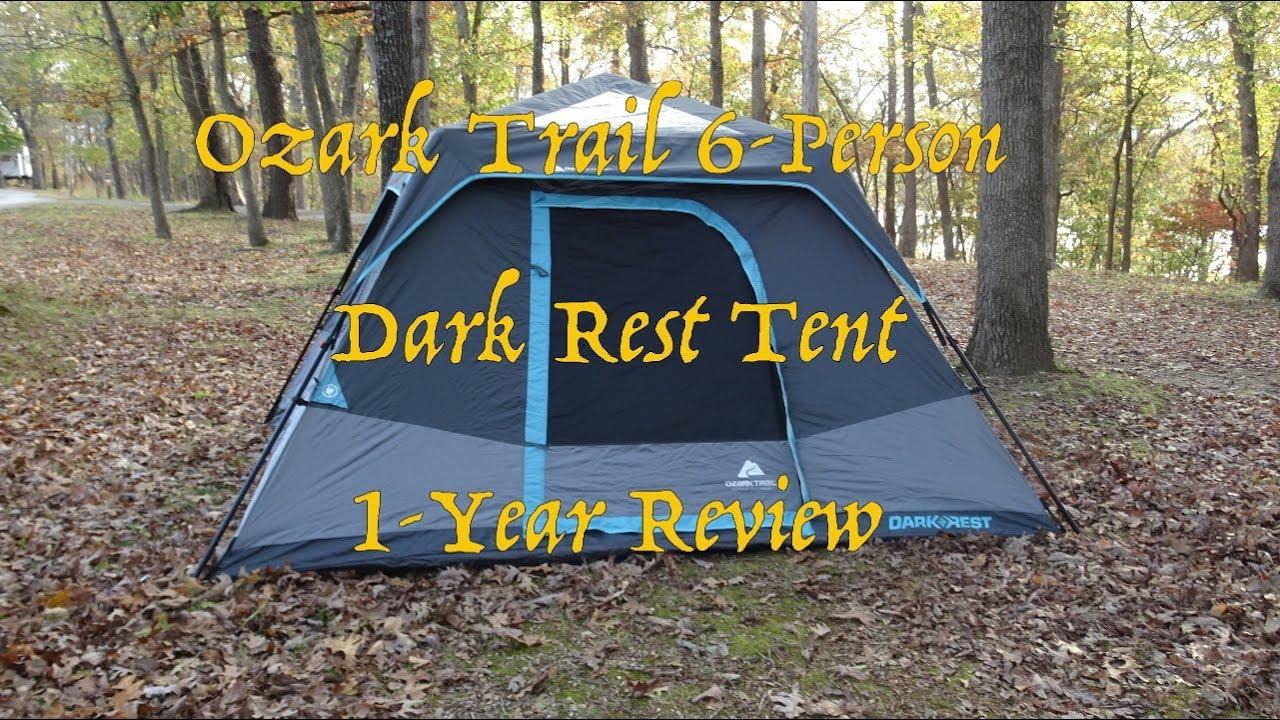 80b75e96289 Ozark Trail 6p Dark Rest Tent - 1 year Use Update - YouTube