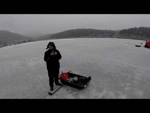 Ice Fishing Evergreen Lake